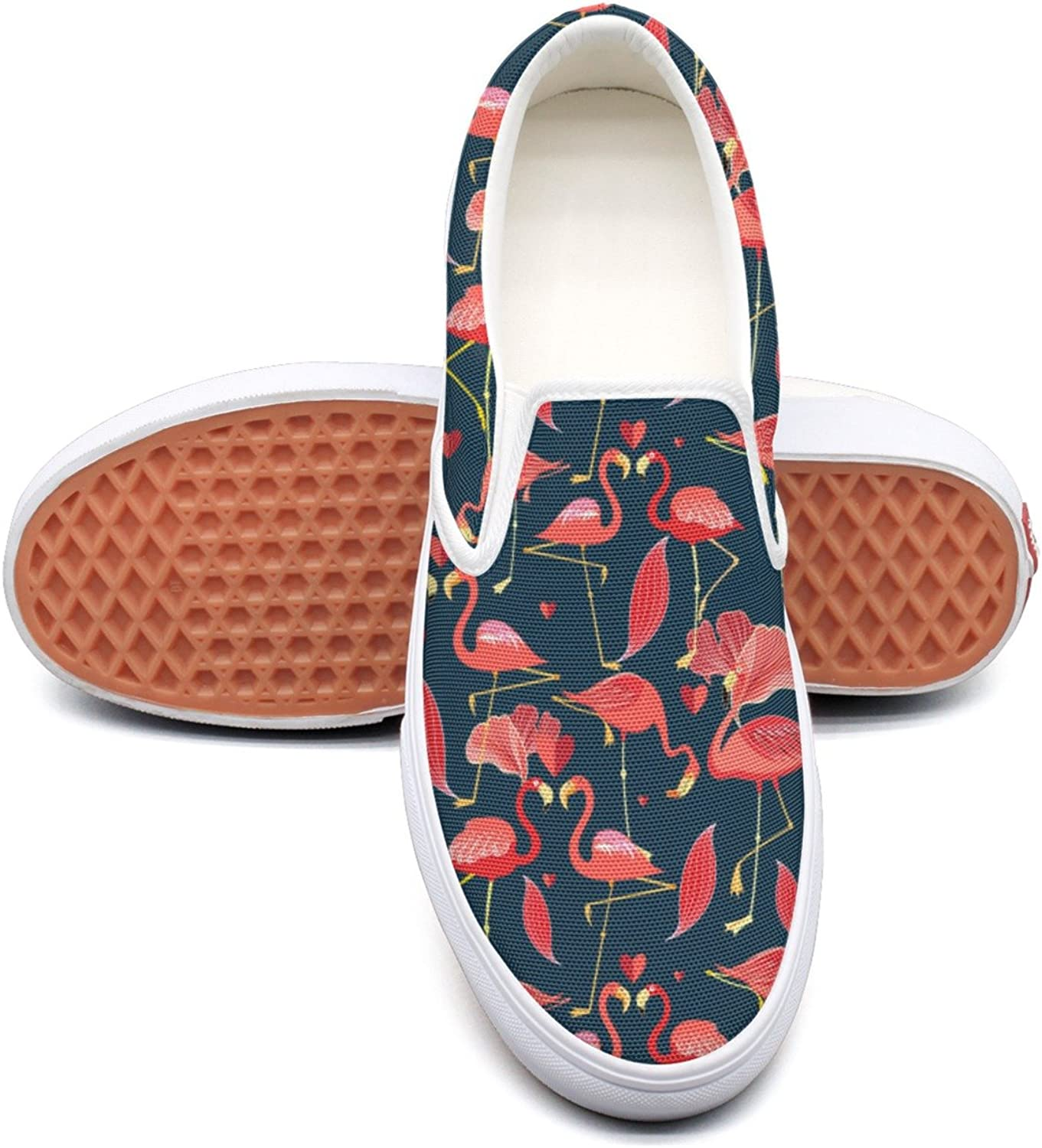 Hjkggd fgfds Casual Graphic Red Flamingo Women Girls Canvas shoes