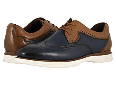 Stacy Adams Regent (Ink Blue/Tan) Men