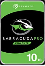 Seagate BarraCuda Pro 10TB Internal Hard Drive Performance HDD – 3.5 Inch SATA 6 Gb/s 7200 RPM 256MB Cache for Computer De...