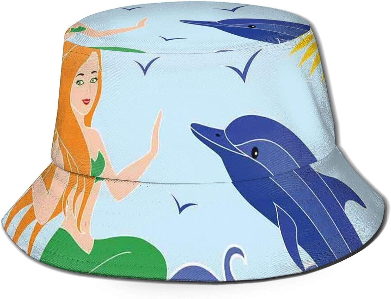 Packable Reversible Black Printed Fisherman Bucket Sun Hat S