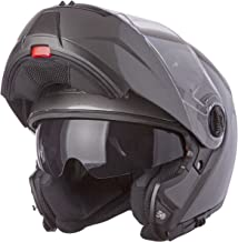 LS2 Helmets Strobe Solid Modular Motorcycle Helmet with Sunshield (Gunmetal, Large)
