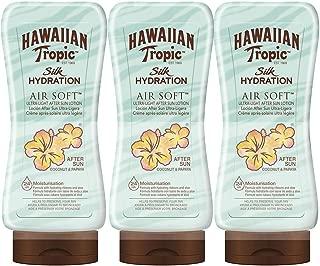 Hawaiian Tropic - Silk After Sun Hydration - Loción After Sun Hidratante Ultra Ligera, Coco y Papaya, Pack de 3, 180ml