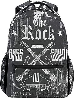 The Rock - Mochila impermeable para guitarra con sonido de bajo y bajo, mochila para gimnasio, música, color gris