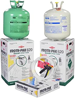 DOW FROTH-PAK 620 Spray Foam Sealant Kit with 15' Hose, Closed Cell Foam, Covers 620 sq ft