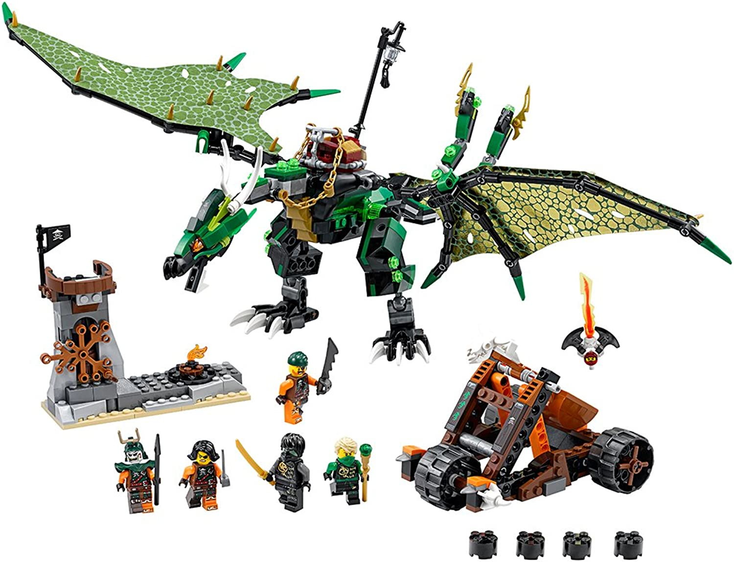 LEGO Ninjago 70593 The Grün NRG Dragon Building Kit (567 Piece) by LEGO