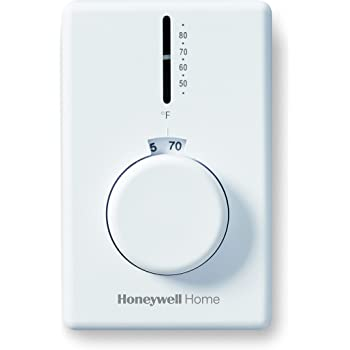 Honeywell Home CT62B Electric Baseboard Thermostat, White