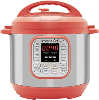 Instant Pot Duo RED 60, 120V-60Hz, 7-in-1 Multi-Use Programmable Pressure, Slow, Rice Cooker, Steamer, Sauté, Yogurt Maker and Warmer, Stainless Steel- 6 Qt