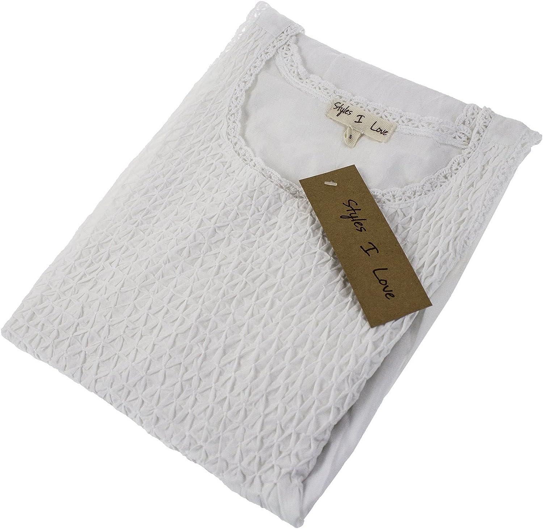 StylesILove Womens Handmade White 100/% Pure Cotton Night Dress Sleepwear for Kids and Mother