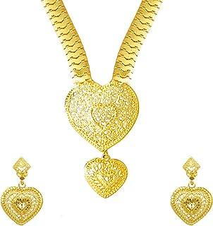 Bodha Traditional Indian 22K Gold Plated Hi Micron Long Rani Har Jewelry Set for Women (SJ_2650)