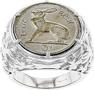 JTV Sterling Silver Coin Ring