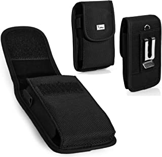 LG Optimus F7 Case, TMAN Heavy Duty Vertical Rugged Pouch Carrying Case with Belt Clip Belt Loops Holster for LG Optimus F7 (Fits with Silicone Case and Thin Protective Case)