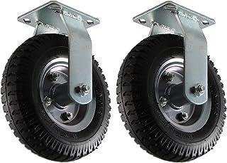 EXCOLO Set van 2 x bokwielen met stalen velg, zilver voor kruiwagen, steekwagen, bolderkar, strandwagen, aanhanger