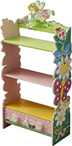WODENY Kids Bookshelf Children Book Rack Storage Bookcase Cabinet Locker for Toddlers Girls