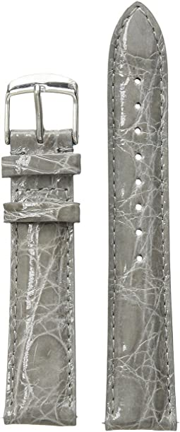 18 mm Grey Crocodile Straps - MS18AA670020