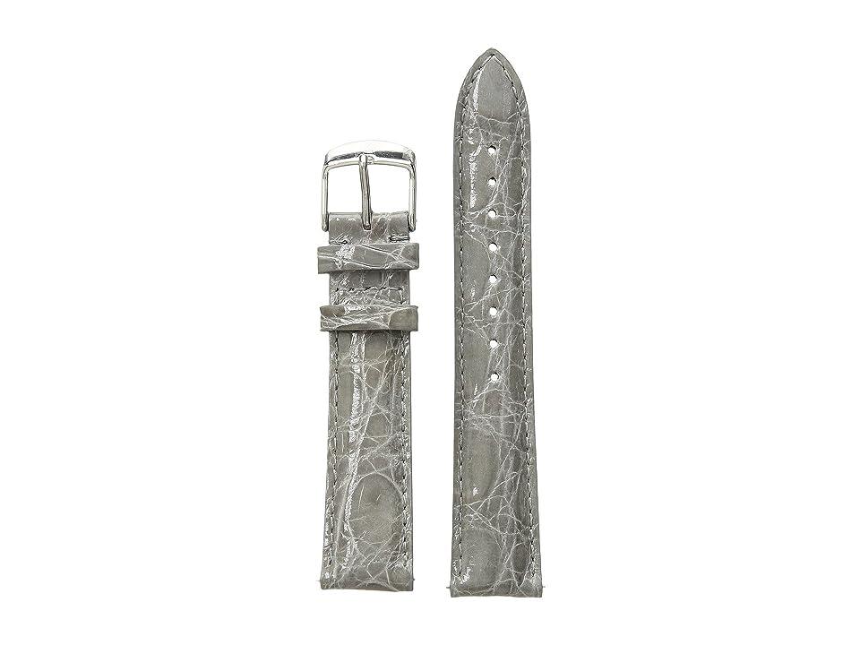 Michele 18 mm Grey Crocodile Straps - MS18AA670020 (Grey) Watches