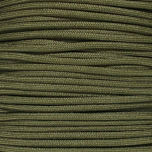 Built For Survival Mil Spec Paracord MIL-C-5040H Type III Titanium Series Made with Genuine Authentic 7 Strand 550 LB True 550 Military Specification Strength Nylon Kermantle Tactical Parachute Cord