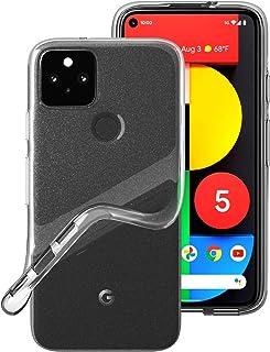 Google Pixel5 ケース TopACE スリム クリア TPU Google Pixel 5 ソフトケース 落下防止 指紋防止 ストラップホール付き 耐スクラッチ全面保護 ピクセル5 対応 (クリア)