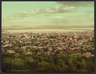 Historic Photos Montreal from Mount Royal