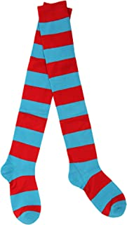 Thing 1/2 Striped Knee Highs