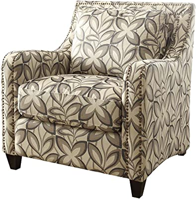 ACME Furniture 53592 Ushury Chair, Floral Fabric