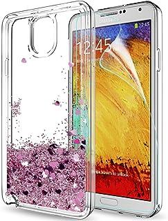 1bce602e019 LeYi Funda Samsung Galaxy Note 3 Silicona Purpurina Carcasa con HD  Protectores de Pantalla,Transparente