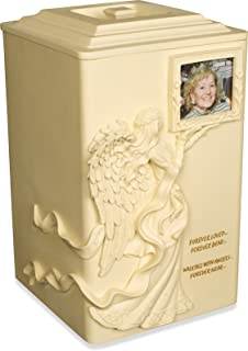 AngelStar Angels Near Urn, 11-Inch, 245 Cubic Inch, Includes Frame for Photo