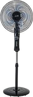 UNIVERSALBLUE | Ventilador de pie con Display Negro | Silencioso | Mando a Distancia | Potencia 50 W | 3 Velocidades | Modo Oscilante
