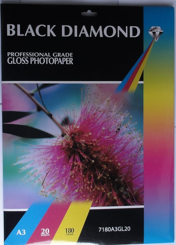 100 Blatt, A3, 180 G M M M ², Glänzend, Für Tintenstrahldrucker, Schwarz B00OACZ19Y | Ausreichende Versorgung  dbaed4