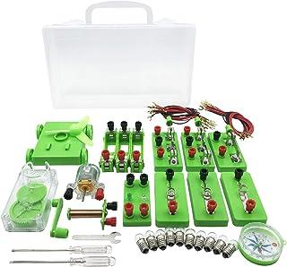 AW-Net 小学生 理科 電気実験キット 豆電球実験セット 直列 並列 回路 電磁石 ケース 付き (A.テスターなし)
