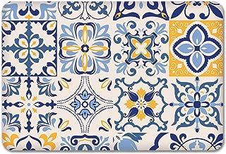 Mavi Çini Desen | Cam Kesme Tahtası (29cm x 34cm)