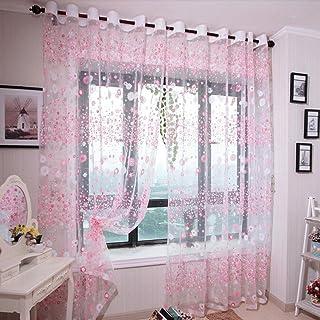 Schon Vorhänge ösen Wohnzimmer Modern Jamicy® 100 X 200cm Neu Mode Auto  Transparent Orientalisch Muster Blume