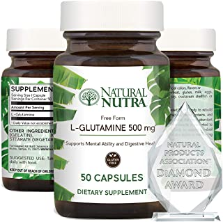 Sponsored Ad - Natural Nutra L Glutamine 500 mg Capsules, BCAAs Amino Acids Supplement, Essential Muscle Builder, Recovery...