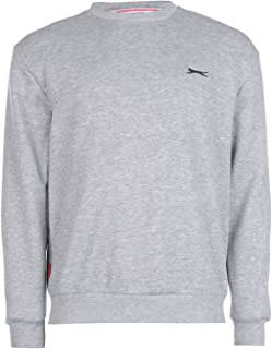 Slazenger Mens SL Fleece Crew Sweater Jumper Pullover Long