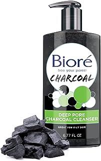 Bioré Deep Pure Charcoal Cleanser برای پوست های چرب (6.77 اونس) (بسته بندی ممکن است متفاوت باشد)