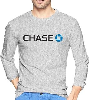 HaiguangZ Fashion JPMorgan Chase Bank Logo Fashion T Shirts Long Sleeve for Man White