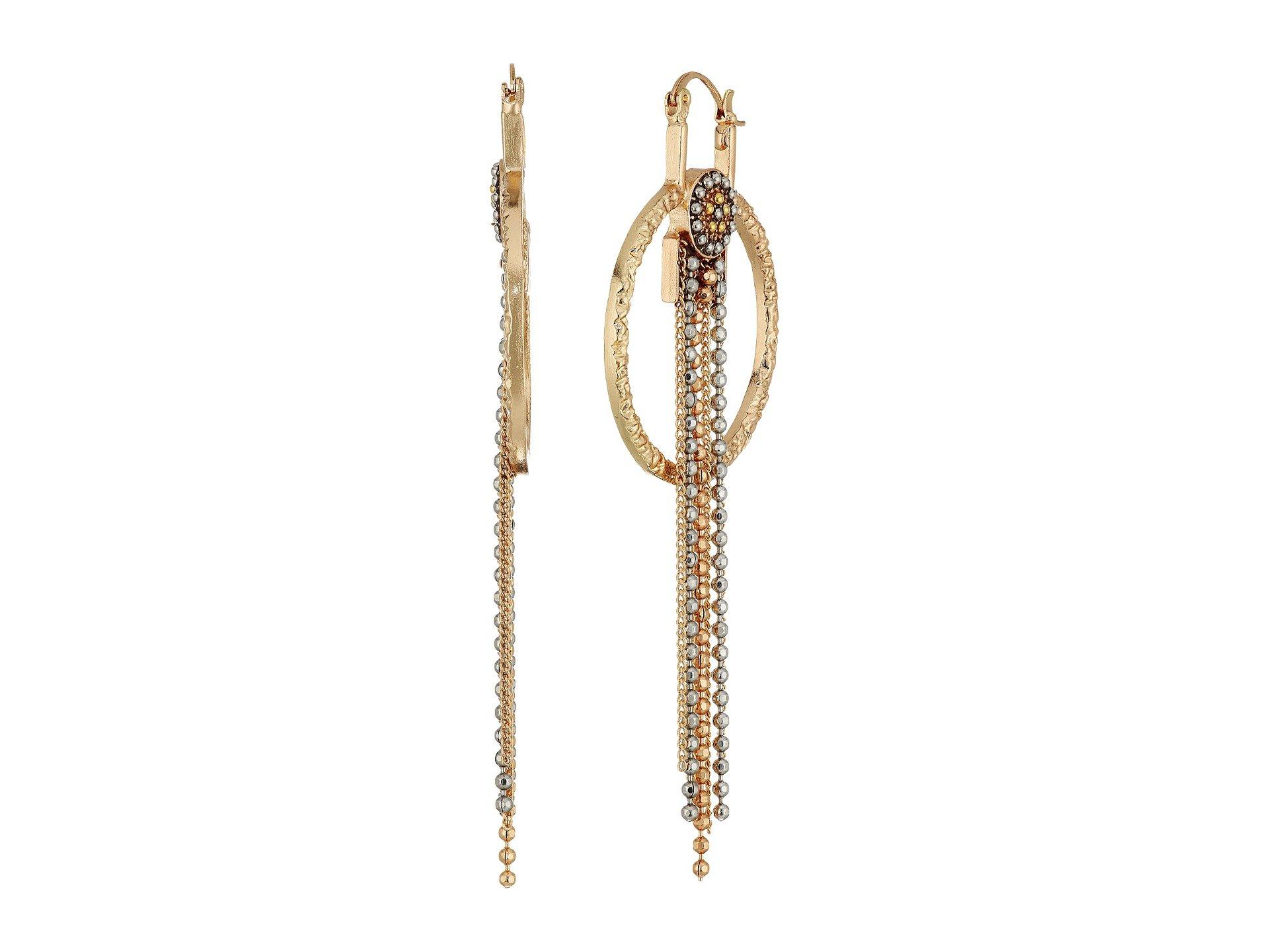 Pendientes para Mujer Steve Madden Ring Bead Chain Fringe Dangle Earrings  + Steve Madden en VeoyCompro.net