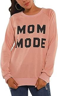 Womens Crewneck Sweatshirt Raglan Long Sleeve Mom Mode Casual Cute Pullover Top