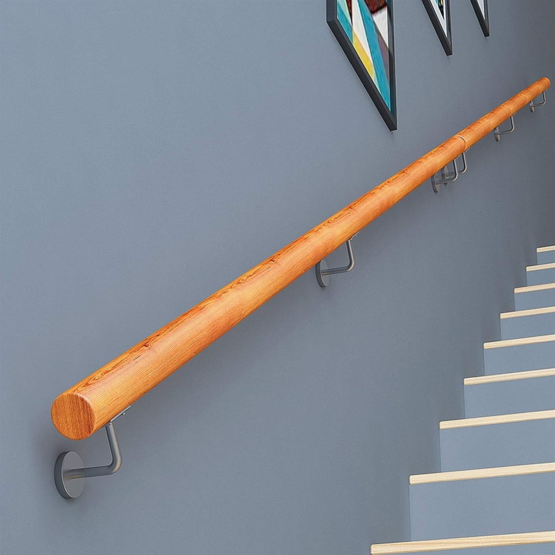 Corrimano in Legno per Gradini Esterni , Corrimano Antiscivolo per Scale in Stile Europeo Contro Il Muro Kit Completo 30~400 Cm , con Staffa Fissa Size : 30cm