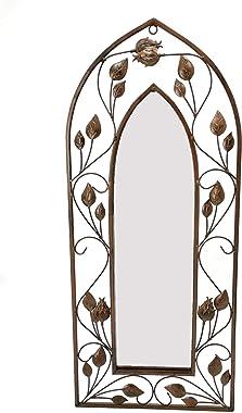 "Gothic Arch Mirror Wallart, Gothic Mirror Decor (12"" W x 28"" H)"