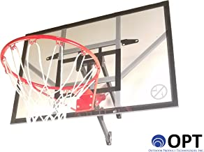 Trampoline Pro / Outdoor Product Tech. 46-inch Wall Mount Basketball Hoop | All Hardware Included & Easy 20 to 30 Minute Install | 3 Different Adjustment Positions | [Lifetime Parts Warranty]