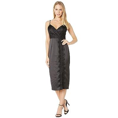 BCBGeneration Lace Overlay Slip Dress (Black) Women