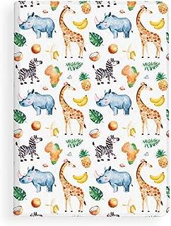 iPad 2017/2018 5th/6th Generation 9.7 iPad Air 1/2 Slim Lightweight Folio Stand Cover African Giraffe Zebra Rhino PU Leather Adjustable Angles Auto Wake/Sleep Smart Protective Case Soft TPU Rubber