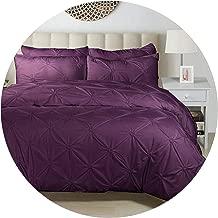 Luxury Pinch Pleat Bedding Comforter Bedding Sets Bed Linen Duvet Cover Set Pillowcases Bedding Queen King Size Bedclothes,5,pillowcasex1