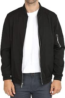 Mens Casual Lightweight Jacket Softshell Flight Bomber Jacket Varsity Coat