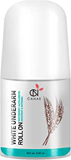 Underarm Whitening Roll On Best Natural Deodorant, Alpha Arbutin + Rice Ferment Effective, Sensitive Skin Suitable for Women and Men, Aluminum Free (best organic deodorize), Travel Size by CANAE