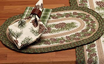 BLACK FOREST DECOR Pinecone Medley Braided Jute Placemat