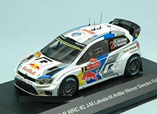 WHITEBOX WBR024 VW Polo R WRC N.2 Sweden Rally 2014 J-M.LATVALA-M ...