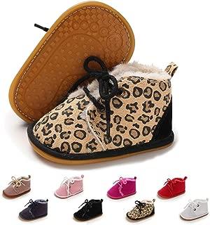 Baby Booties Newborn Boy Girl Shoes Winter Warm Fur Lining Non-Slip Lace Up Prewalker Boots