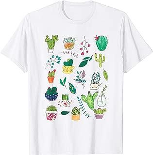 Succulent Cactus Shirt Birthday Gift Plant Lover Gardener T-Shirt