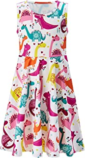 Girls Sleeveless Dress Mermaid Fish Scale Dress for Kids 4-13 Years